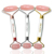 Crystal Handle Handmade Jade Roller Guasha Set Tool Massage Rose Quartz Roller Jade 2019 NOISE FREE Welded Rose Gold Frame Pink