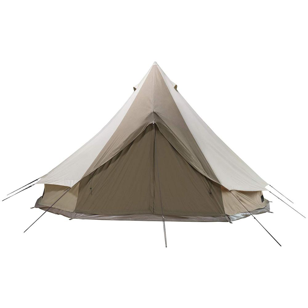 Luxe glamping canvas katoen grote waterdichte bell tent 6 m