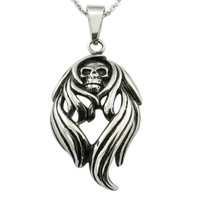 China Stainless Steel Jewelry Punk Men's Skull Ghost Head Pendant