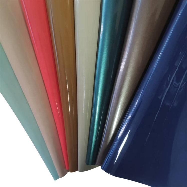 Shiny Finish Patent synthetic Leather Pu Leather For Bags And Shoes