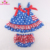 Summer Toddler Girls Swimming Suit Two Pieces Fourth Of July Ruffle Baby Swim Outfit
