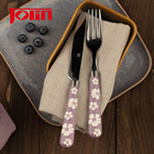 Jolin Flatware Stainless Steel Silverware Set Plastic Handle 72 pcs cutlery set