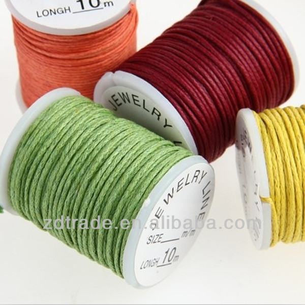 10 Rolls 10m MIX Waxed Cotton Necklace Beads Cord String 0.9mm