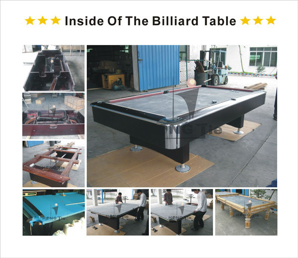 New Design Six Generation 9ft Wood Table Billiard With Free ...