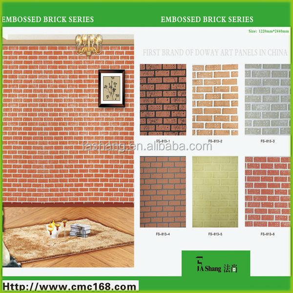 Faux wood brick wall panel.MDF textured panels., View faux brick ...