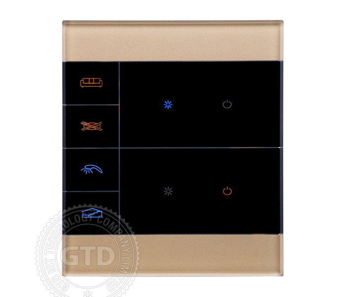 Smart Home Zigbee Light Switches Touch Panel Mobile Phone