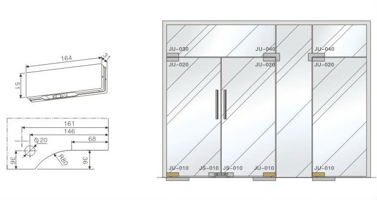 Hotel Bottom Glass Door Patch FittingVVP style high quality glas door patch fitting  sc 1 st  Guangdong Xiongjin Metal Products Co. Ltd. - Alibaba & Hotel Bottom Glass Door Patch FittingVVP style high quality glas ... pezcame.com