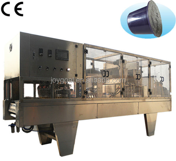 Shanghai Joygoal coffee capsule making machine for nespresso equipment, nespresso kup coffee capsules filling machine