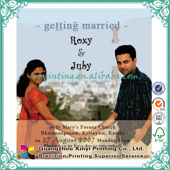 Latest Handmade Hindu Friends Indian Wedding Invitation
