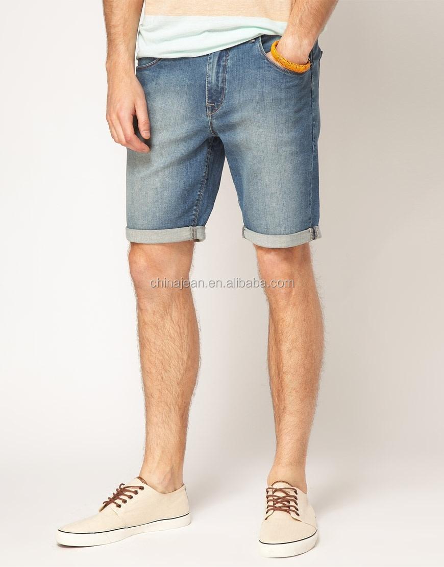 e0dc9370de0c6 2015 de Moda hombre lavar pantalones vaqueros cortos pantalones cortos de  jean De denim (JXW508