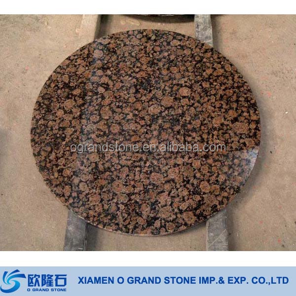 Outdoor Round Stone Table Tops G562 Maple Red Granite Stone Tables Quartz Stone  Table Top