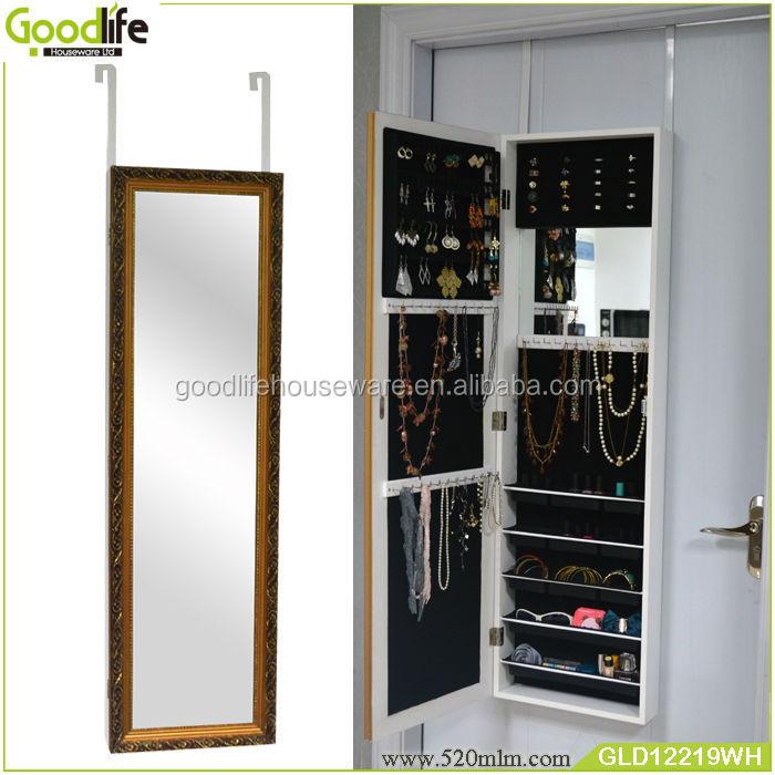 Goodlife Hang Over The Door Wooden Storage Box Jewelry Cabinet