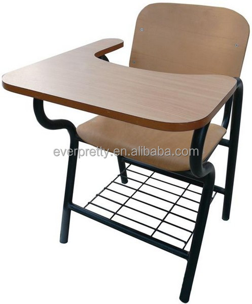 New Design Student Chair With Writing Pad Chairs With Tables Attached Conference Chair With