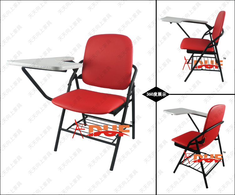 pu padded folding chairs with tablet school seat cushion high