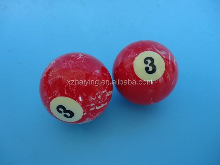 57mm Resin Colored Marble Billiard Balls