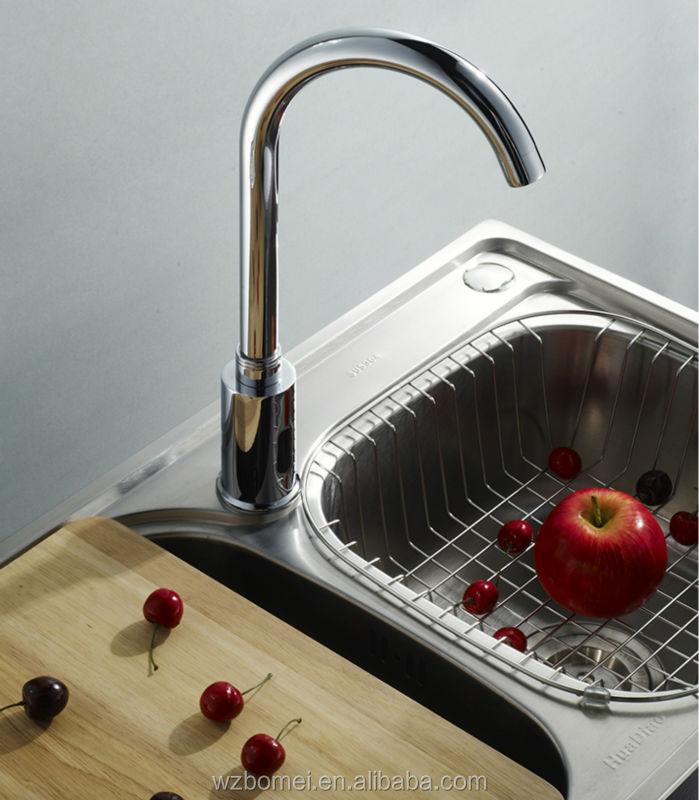Single cold automatic tap kitchen faucet sink mixer with CE certification