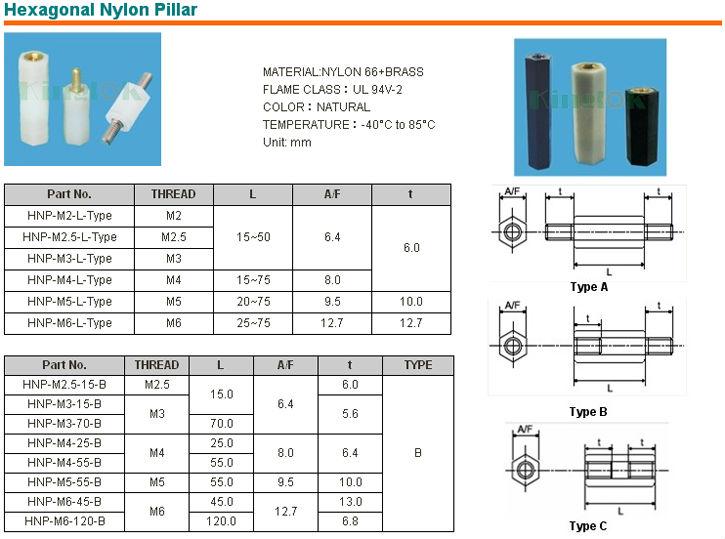 Plastic Screw Nylon Spacer Pcb Standoff Hex Standoff M3