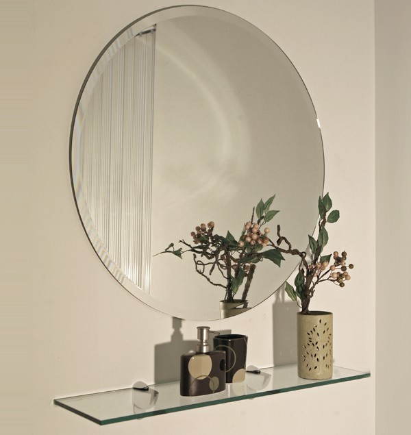 Wholesale unframed beveled edge wall round mirrors silver for Wholesale mirrors