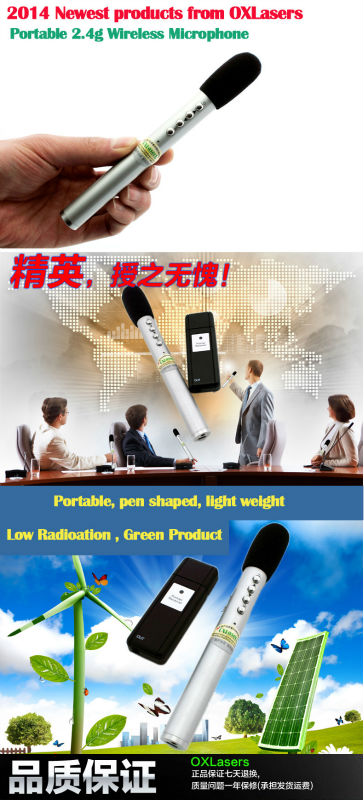 Pen style Mini USB bluetooth 2.4G Wireless Microphone 2 in 1(2 mic+1receiver) Conference for loudspeaker , teacher