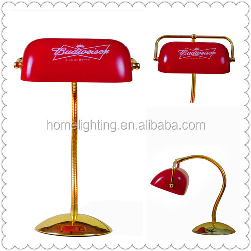 M-10883 Tuning Light Adjustable Red Bankers Desk Lamp Arm Flexible ...