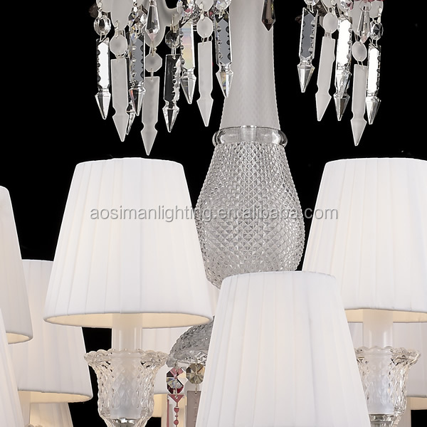 24 Lamp Baccarat Style Designer Chandelier Crystal with Lampshade