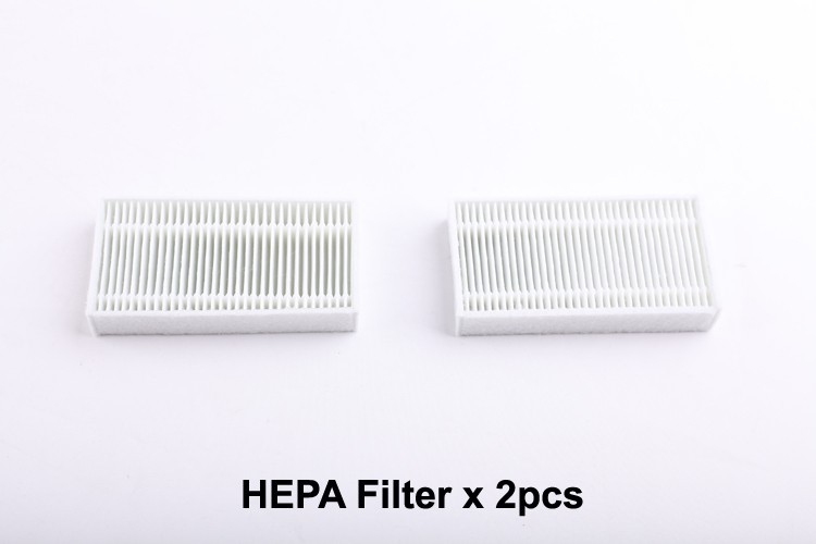 ((For B2000, B3000) Spare Parts Pack for Robot Vacuum Cleaner, Including Side Brush x 4pcs + HEPA Filter x 2pcs