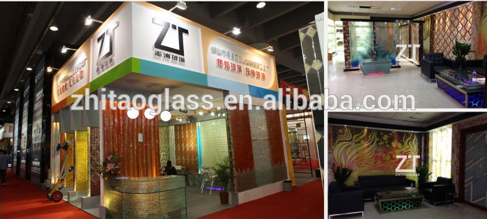 Colored tinted tempered glass for commercial buildings