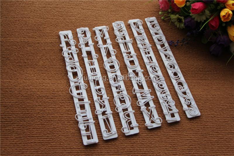 plastic decorative design cake alphabet letter cutternumber frill cutter