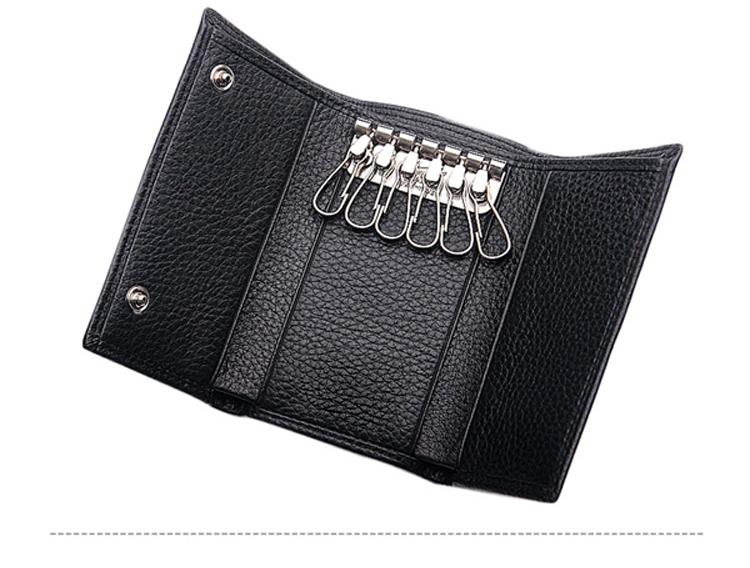 High quality fashion men leather key ring leather key purse magnetic key  holder 8af04d3ed6cd