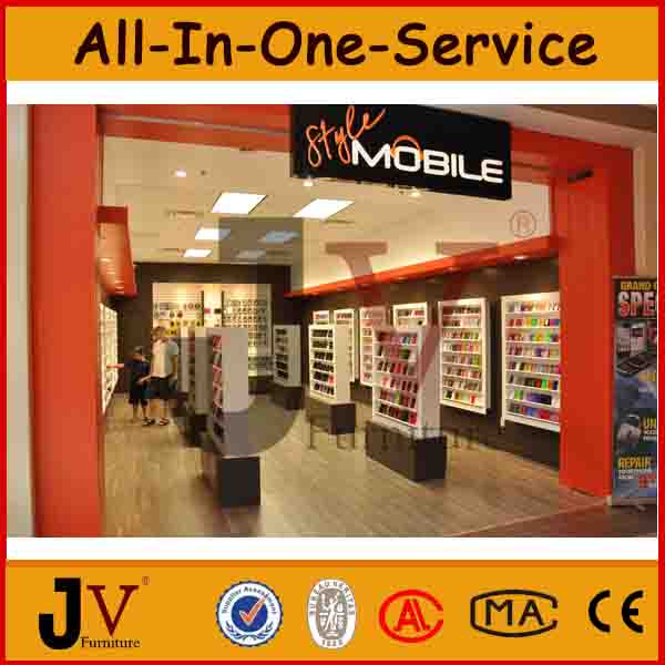 Concise Electronics Showroom Display For Mobile Phone Shop Design ...