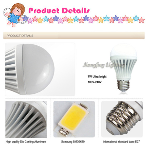 Different Types Light Fittings B22 Led Lamp Bulb