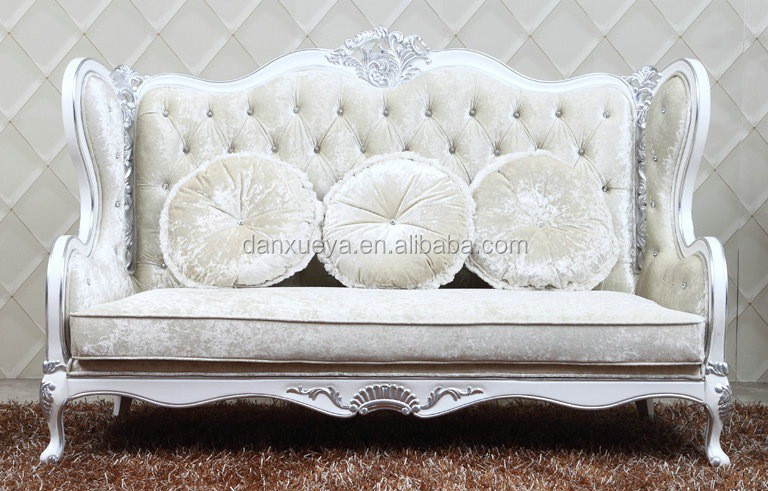 Classic Italian Sofa Set Baroque Hand Carved Living Room Furniture