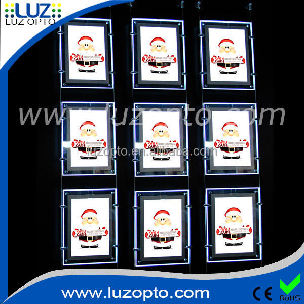 Slim Acrylic Storefront Display Led Light Box,Storefront Light Box ...