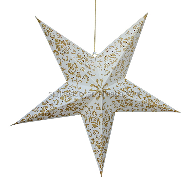 Christmas stars 3d folding decorations paper star buy for 3d star decoration