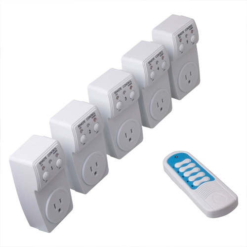 Linkacc1-th23 5 X Wireless Remote Control AC Electrical Power Outlet Plug  Switch 453cdac08