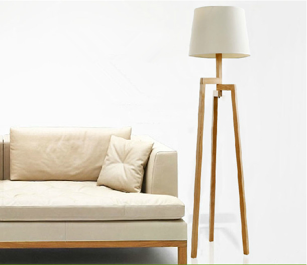 modern wooden living room floor standing lamp - Standing Lamp Living Room