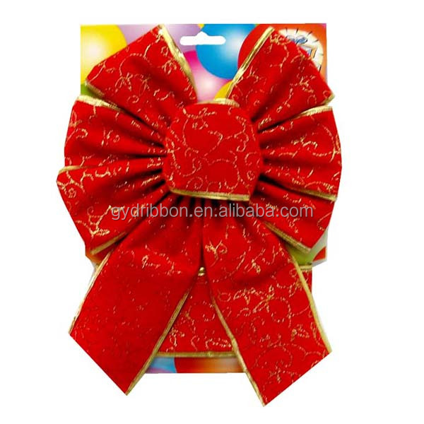 Outdoor Christmas Ribbon.Small Red Velvet Handmade Pre Tied Ribbon Butterfly Bow For Outdoor Christmas Tree Bow Buy Christmas Ribbon And Bow Bows For Pocket Watches Large