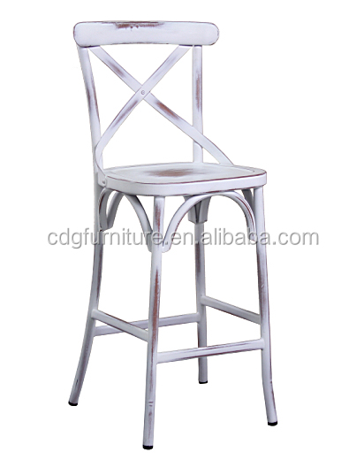 cross back bar chairs with white vintage 657h75st