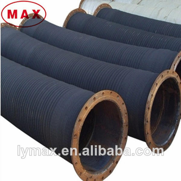 Wire braided quot flange joint flexible hose for sand