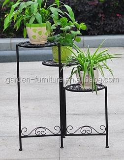 Handicraft Home Garden Decor Display Shelf Metal Planter Holder Bicycle  Style Wrought Iron Flower Pot Stands