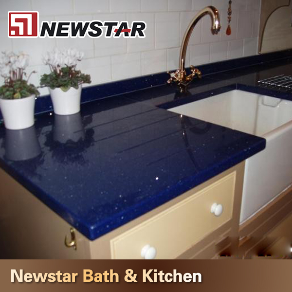 Blue Quartz Kitchen Countertops: Kitchen Sparkle Blue Quartz Countertops