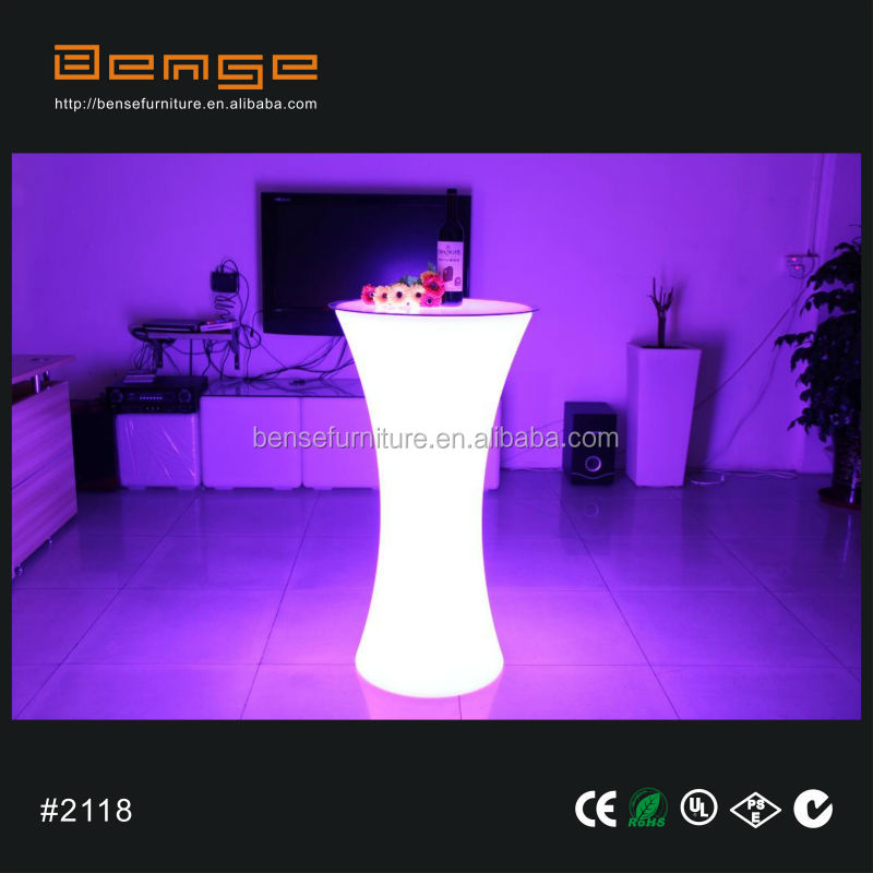 Charmant LED Light Up Bar Table LED Cocktail Table For Events/party