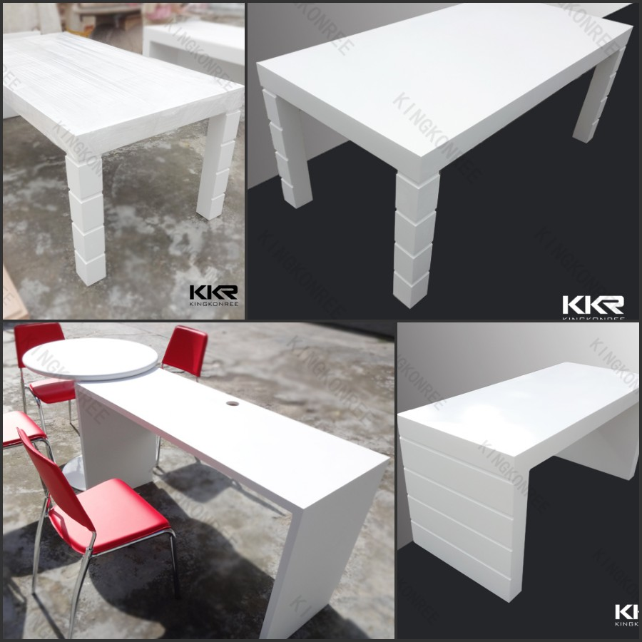 mercial used solid surface long bar table