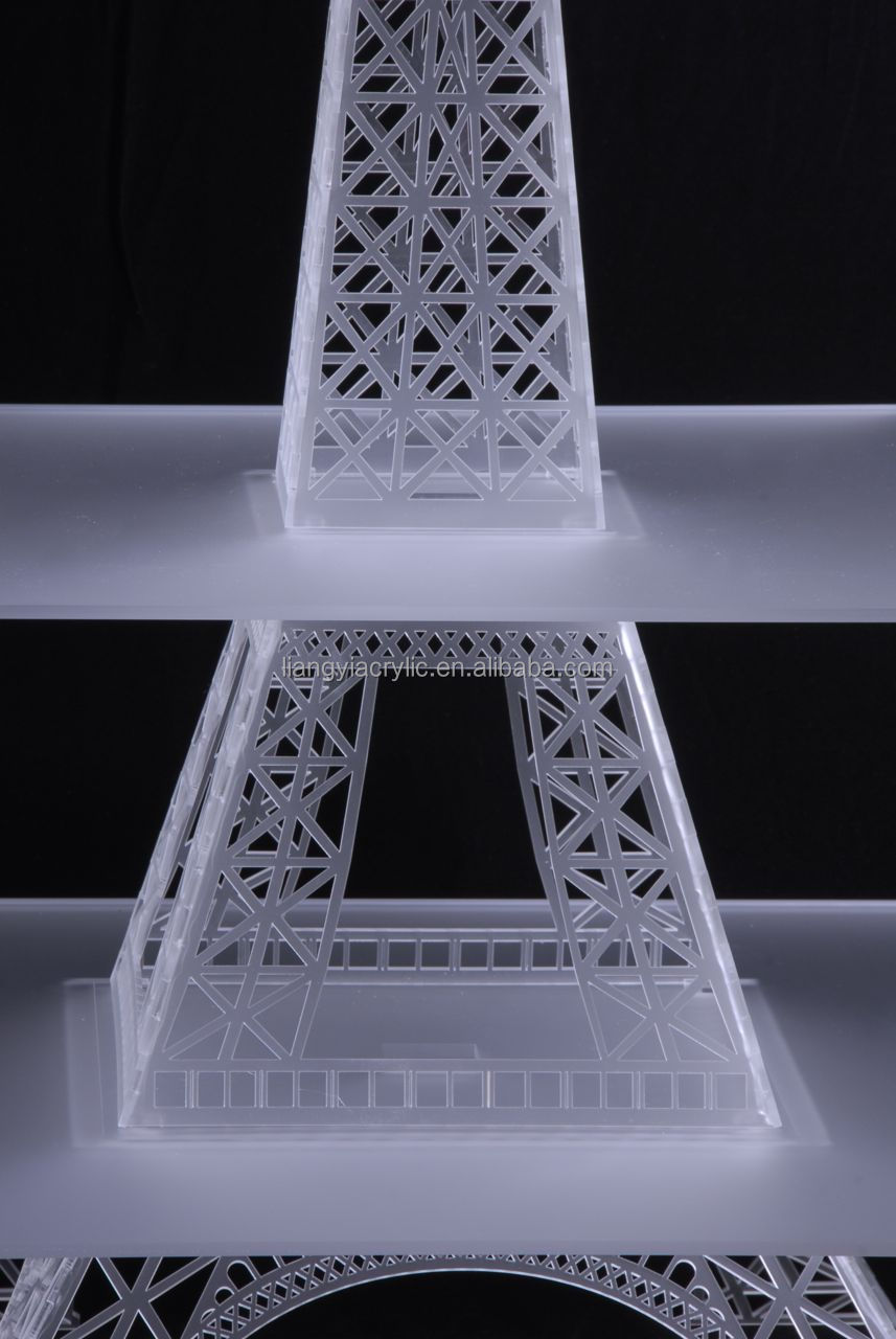 High End Acrylic Eiffel Tower Cupcake Stand Manufacturer