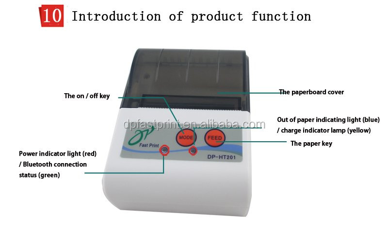 2 inch portable receipt printer for iphone mini portable printer