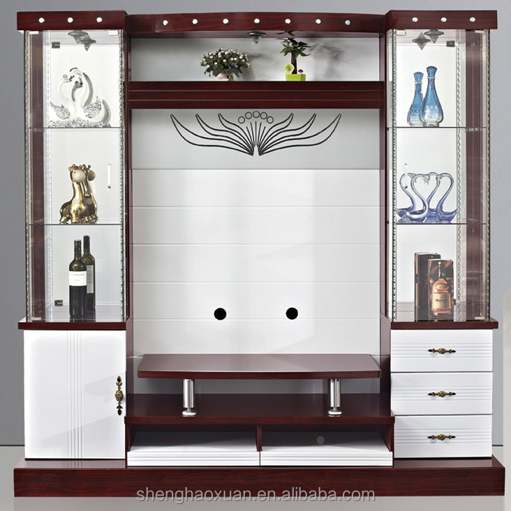 Living Room Cabinet Design In India: Latest Design Modern Corner Tv Cabinet Led Tv Wall Unit
