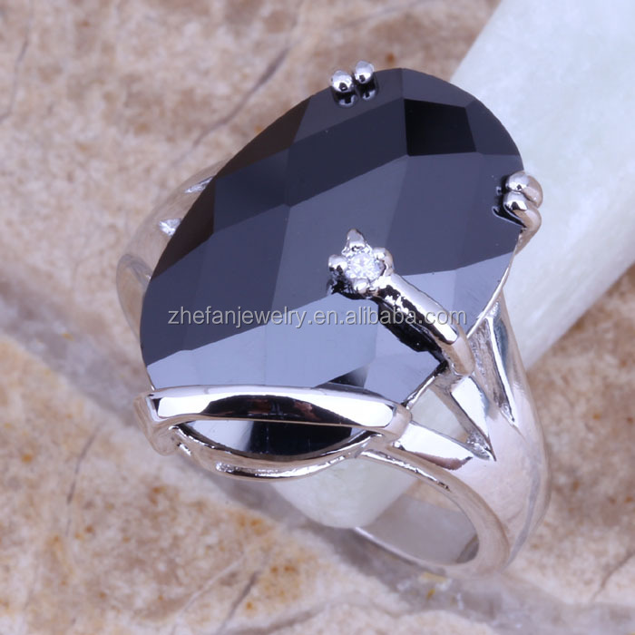Signet Rings Wholesale American Jewelry Black Stone Ring For Male ...