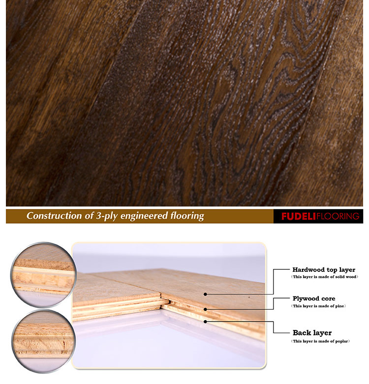 Top quality grade ab certified new design oak engineered for Wood floor quality grades