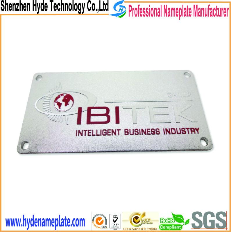陽極酸化金属をカスタマイズするビジネス産業用ネームプレート仕入れ・メーカー・工場