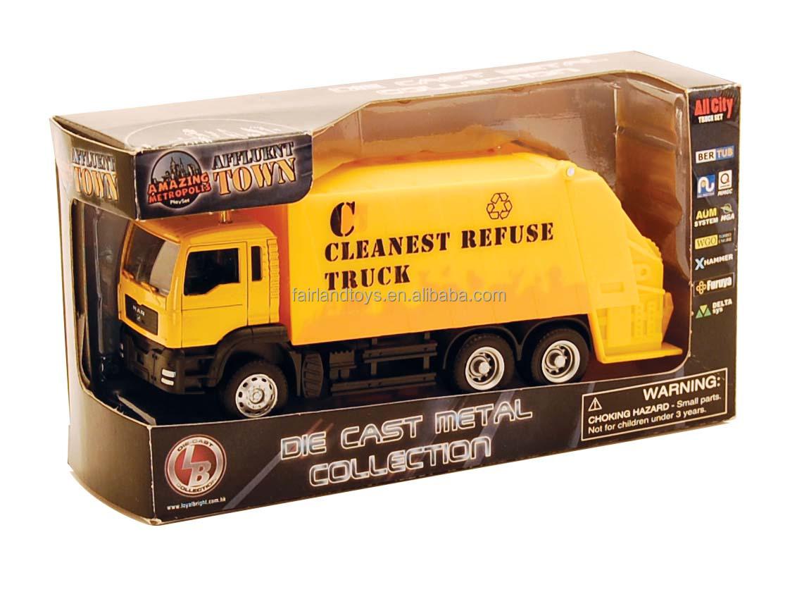 1 64 Baru Truk Sampahdie Cast Model Sampahanak Anak Mobil Mainan Aksesoris Truck Sampah Die